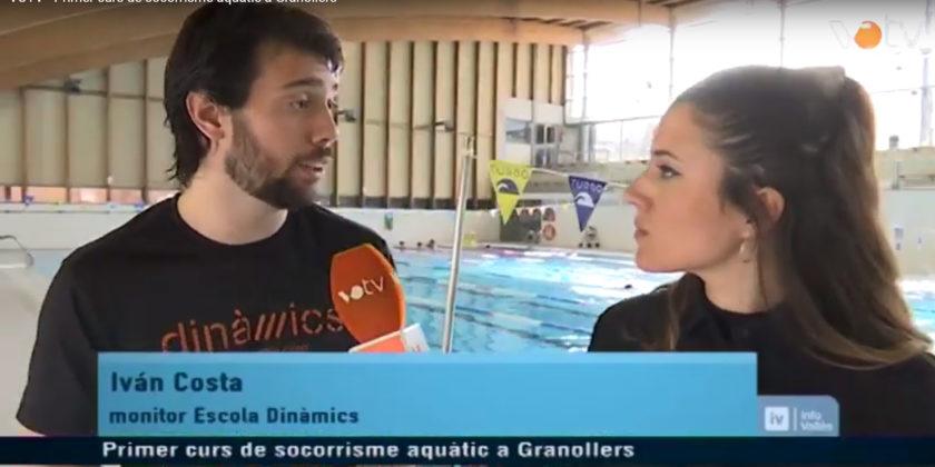 Reportatge a VOTV del primer Curs de Socorrisme Aquàtic a Granollers